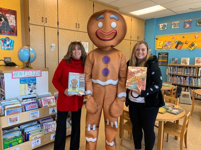 Mrs. Murray, Gingerbread Man & Ms. Schoen