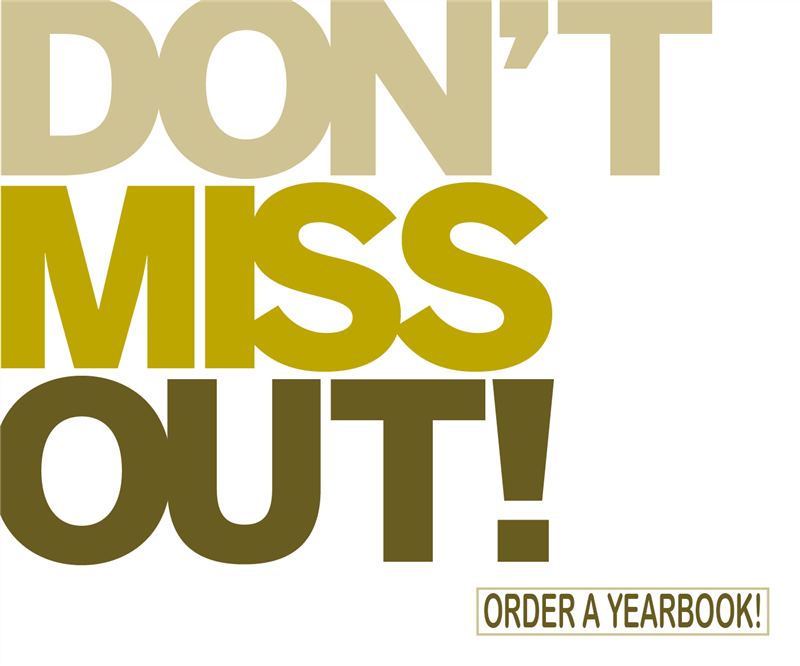 don't miss out yearbook logo
