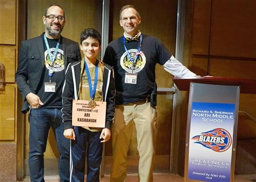 Image of spelling bee champion at NMS