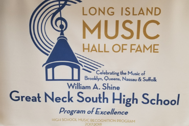 Photo of a banner from the Long Island Music Hall of Fame