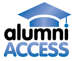 Image of Alumni Access with graduation cap on top