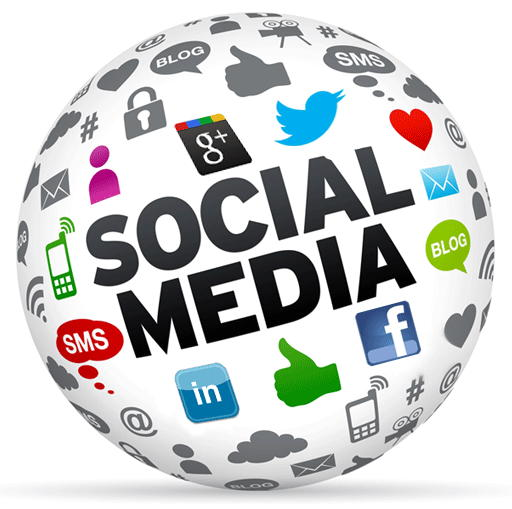 Image of social media and social media icons