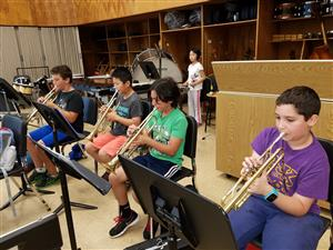 Instrumental Music students playing their instruments