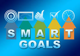 Image of Smart Goals with various icons on top