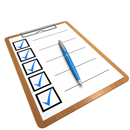 image of clipboard checklist