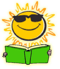 clip art of a sun and book
